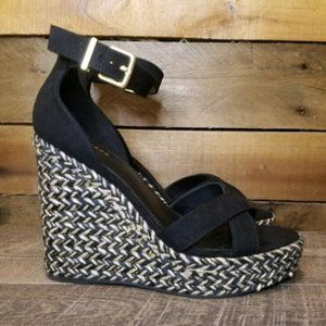 NEW Women's Express Ankle Strap Wedge Sandals
